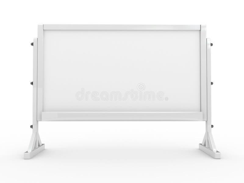 panneau 3d blanc d'isolement illustration stock