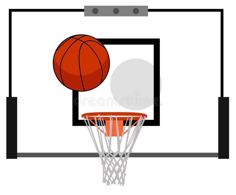 Panneau arrière de basket-ball illustration stock