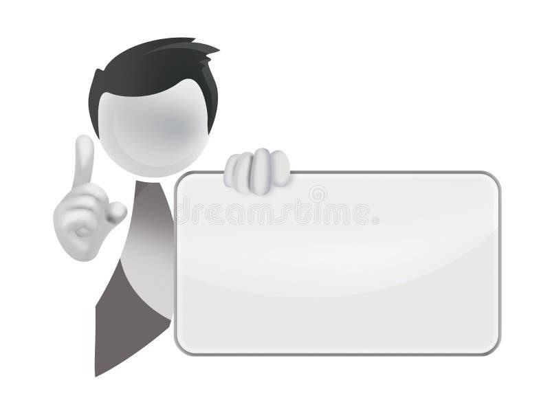 Panneau blanc illustration libre de droits