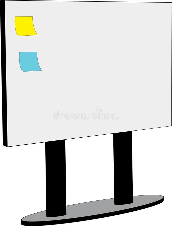 Panneau blanc avec des notes illustration de vecteur