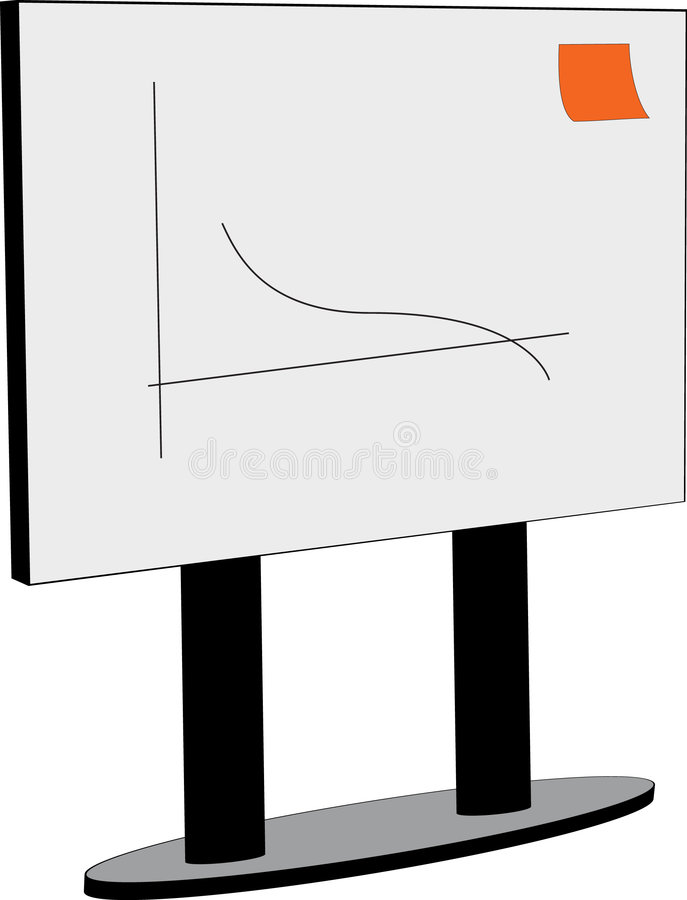 Panneau blanc avec le graphique et les notes illustration de vecteur