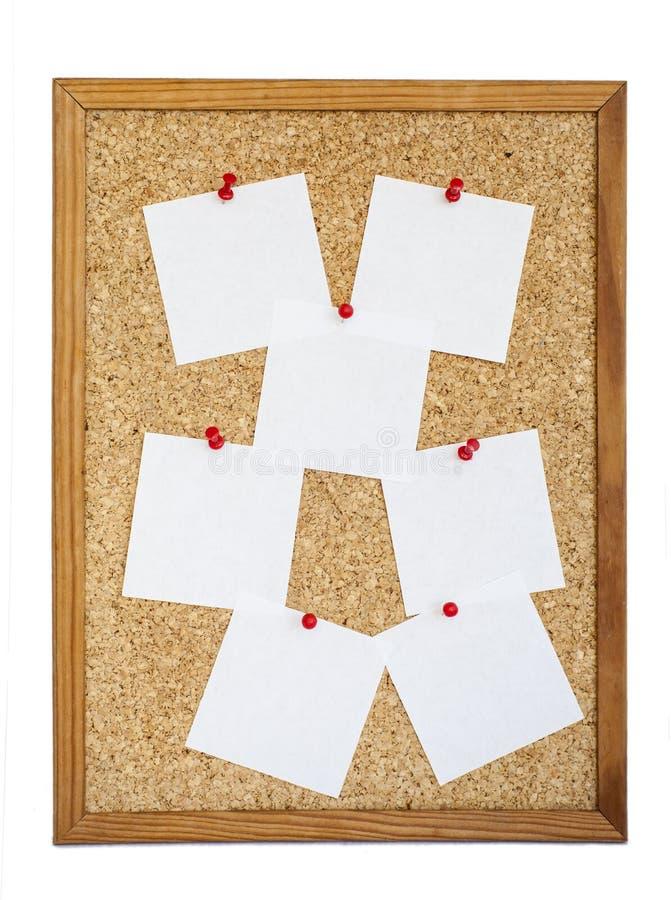 Panneau blanc de liège photo libre de droits