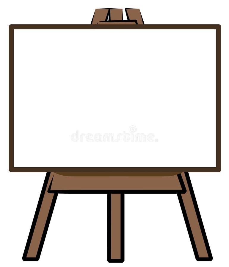Panneau blanc sur le support illustration stock