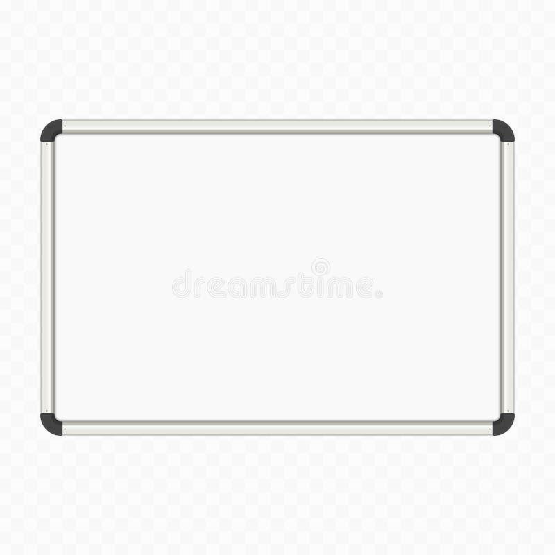 Panneau blanc vide de marqueur illustration de vecteur