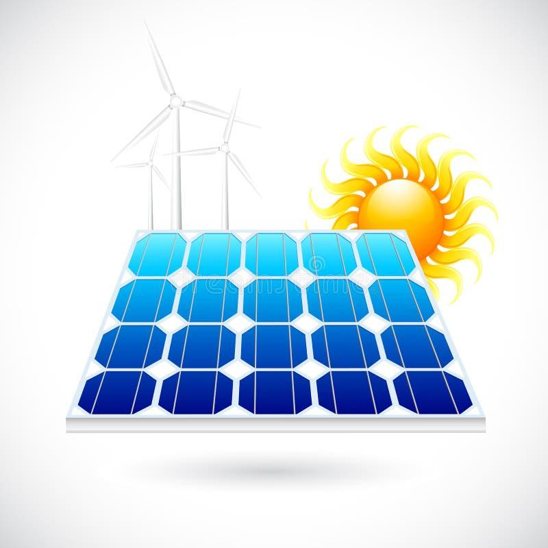Panneau d'énergie solaire illustration de vecteur