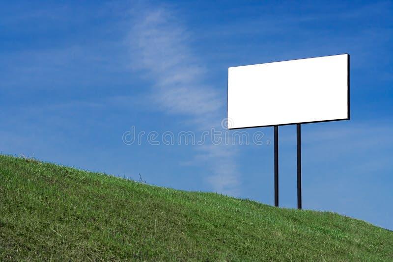 Panneau d'affichage blanc images stock