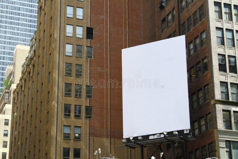 Panneau d'affichage blanc photographie stock