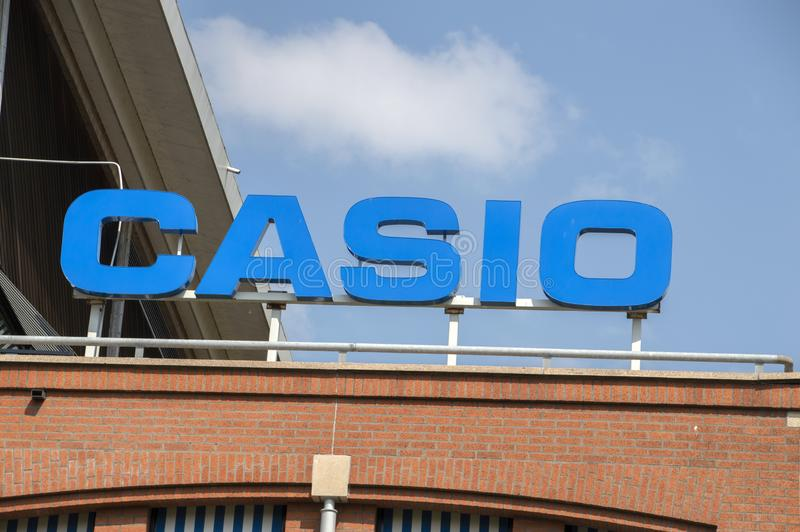 Panneau d'affichage Casio à Amstelveen les Pays-Bas 2019 image libre de droits
