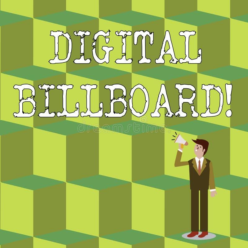 Panneau d'affichage de Digital des textes d'écriture Panneau d'affichage de signification de concept qui montre des images numéri illustration de vecteur