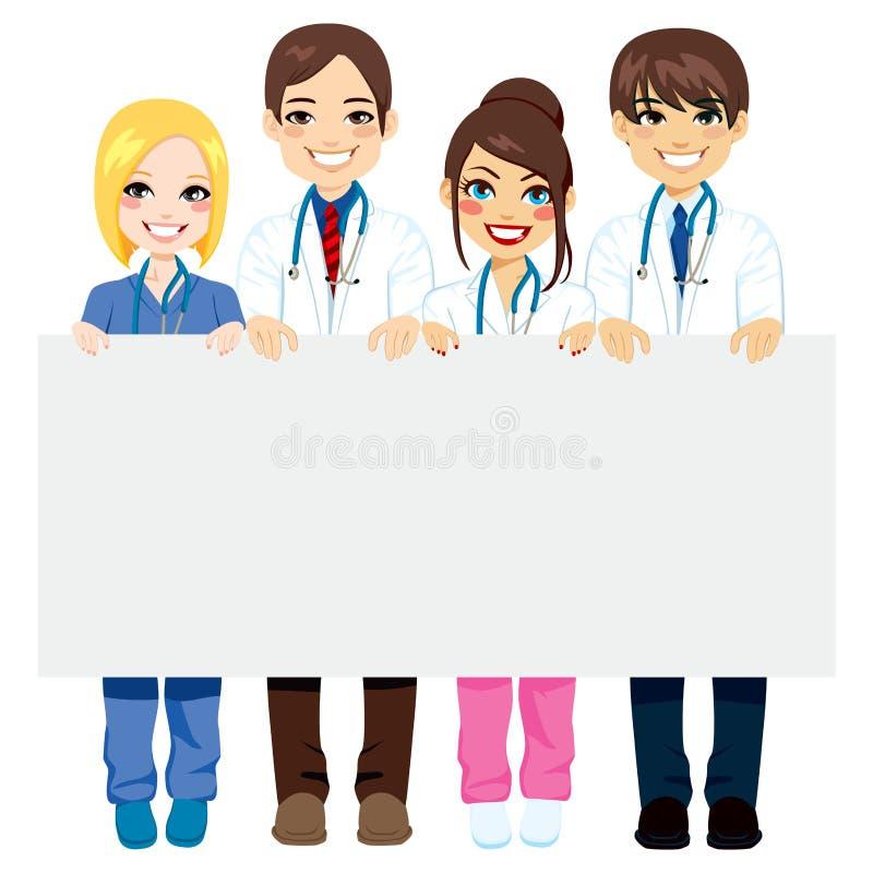 Panneau d'affichage de groupe médical illustration de vecteur