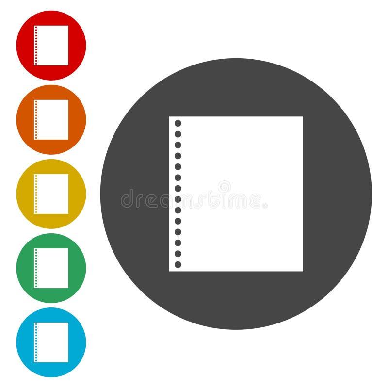 Panneau d'affichage de papier Icône de papier illustration libre de droits