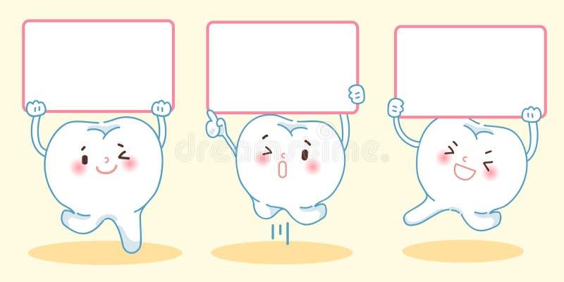 Panneau d'affichage de prise de dent illustration libre de droits
