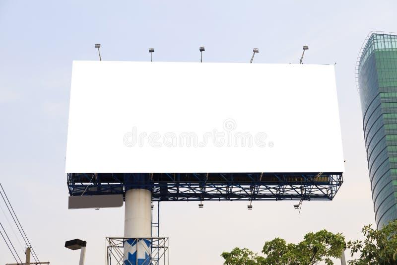 Panneau d'affichage extérieur vide image stock