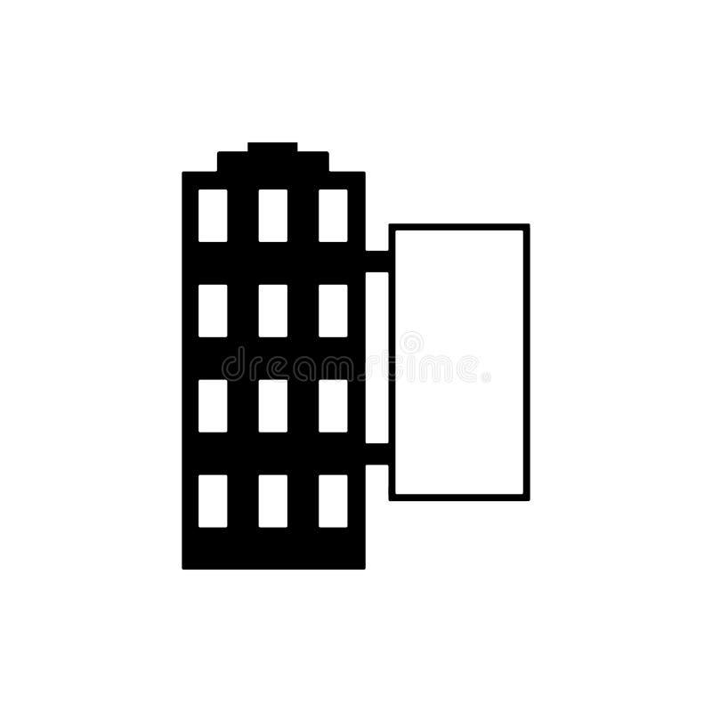 panneau d'affichage sur l'icône de construction Élément d'icône de panneau d'affichage de publicité Icône de la meilleure qualité illustration stock