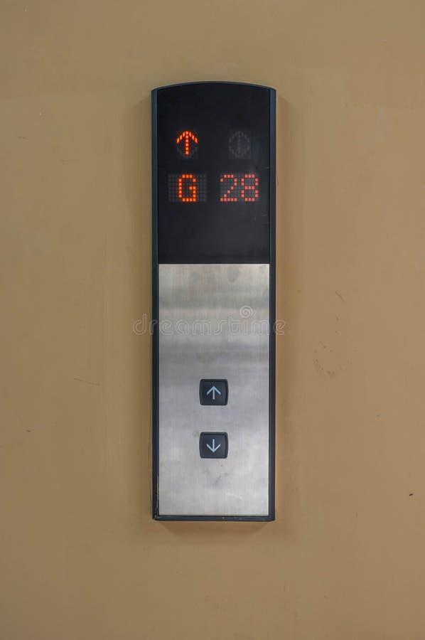 Panneau d'ascenseur photographie stock