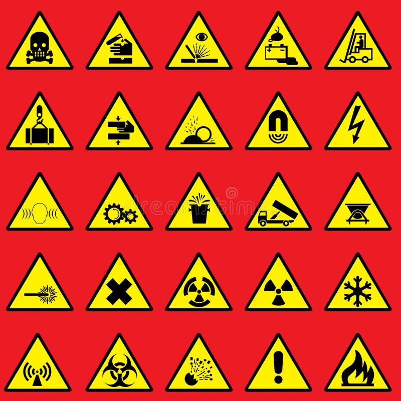 Panneau d'avertissement illustration stock