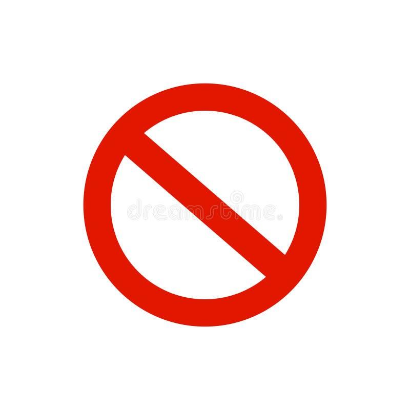 Panneau d'avertissement de cercle, symbole Fond blanc Illustration de vecteur illustration libre de droits