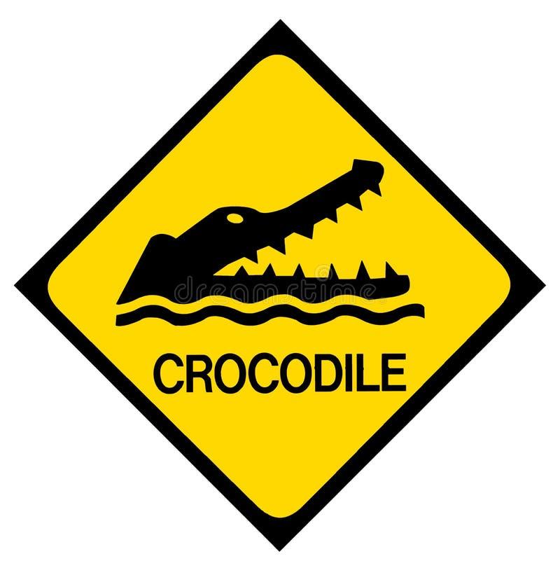 Panneau d'avertissement de crocodile illustration de vecteur