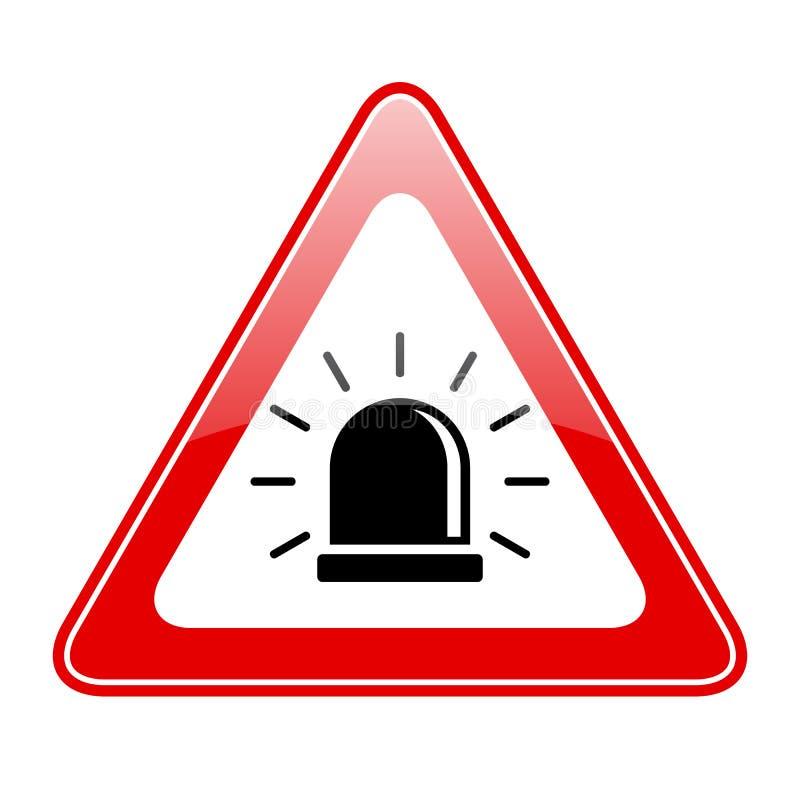 Panneau d'avertissement de sirène d'alarme illustration de vecteur