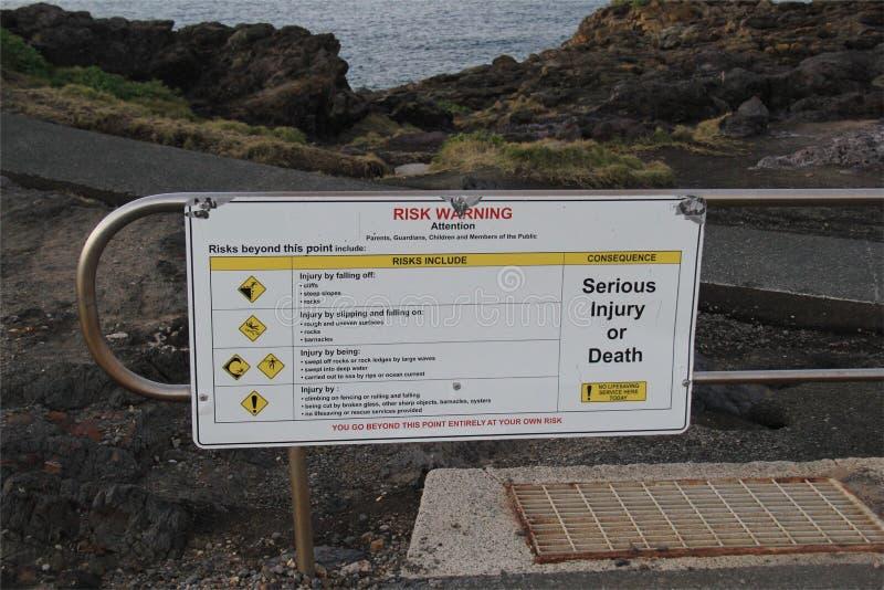 Panneau d'avertissement de touristes image libre de droits