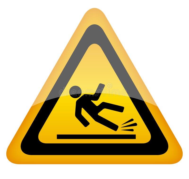 Panneau d'avertissement humide de plancher illustration de vecteur