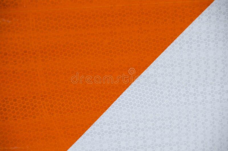 Panneau d'avertissement orange et blanc de risque illustration libre de droits