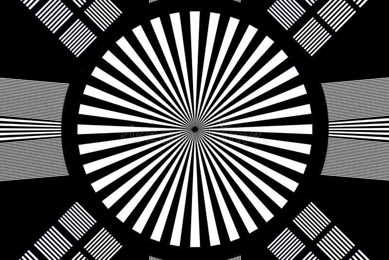 Panneau d'essai noir et blanc d'appareil-photo et de lentille illustration stock