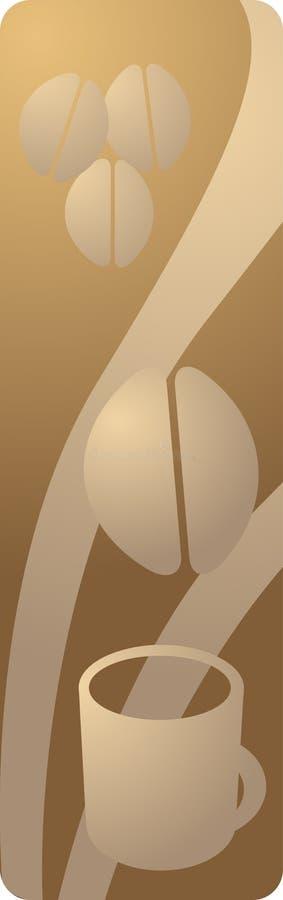 Panneau de boisson de café illustration libre de droits