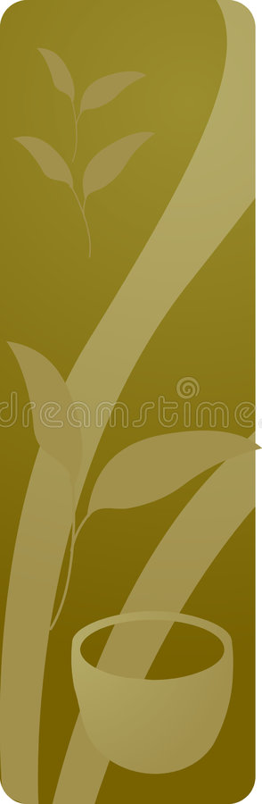Panneau de boisson de thé vert illustration de vecteur