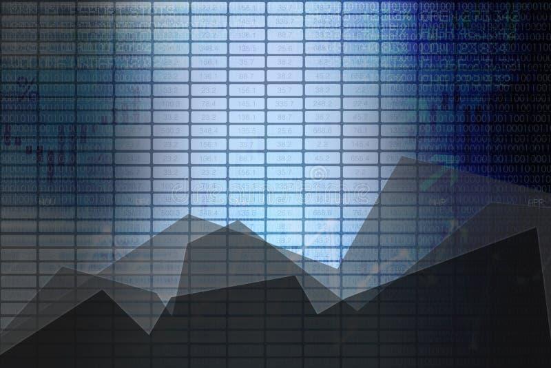 Panneau de bourse des valeurs d'affaires de résumé avec des graphiques comme fond illustration de vecteur