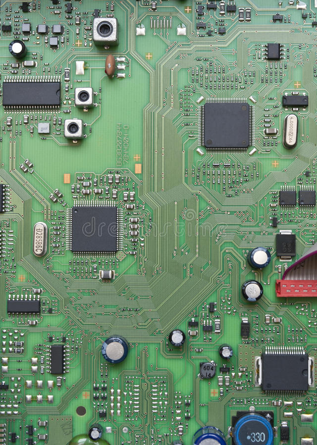 Panneau de circuit intégré photographie stock libre de droits