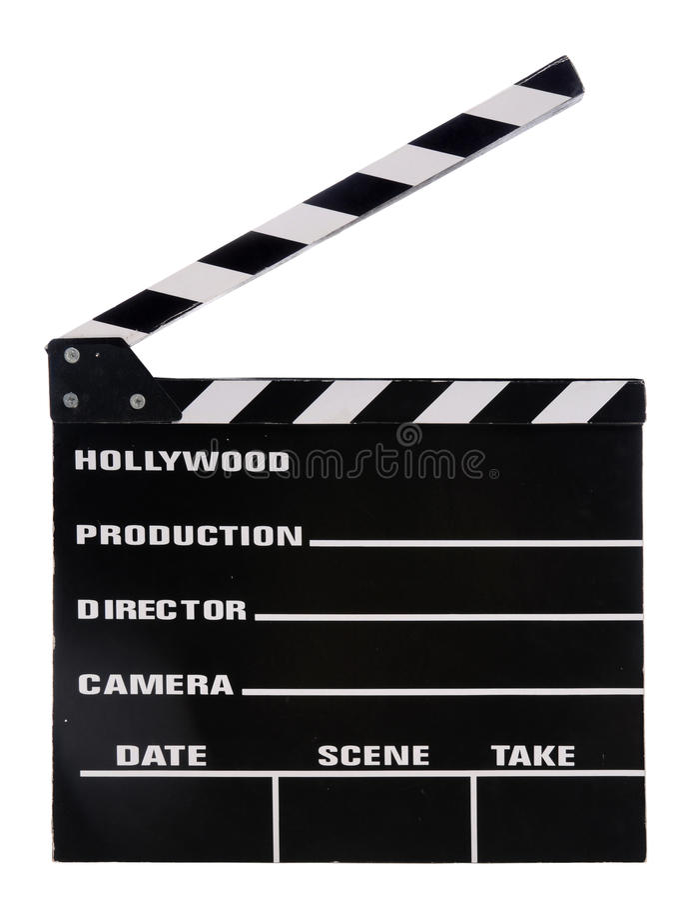 Panneau de clapet de film photos libres de droits