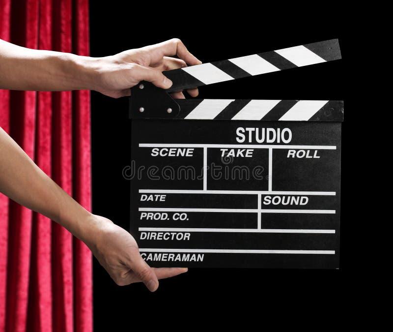 Panneau de clapet de film photos stock