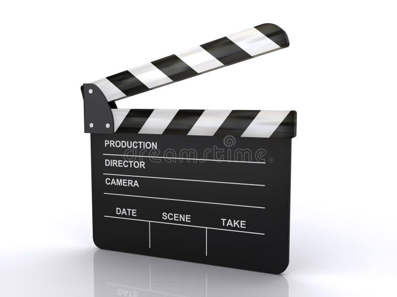 Panneau de clapet de film illustration libre de droits