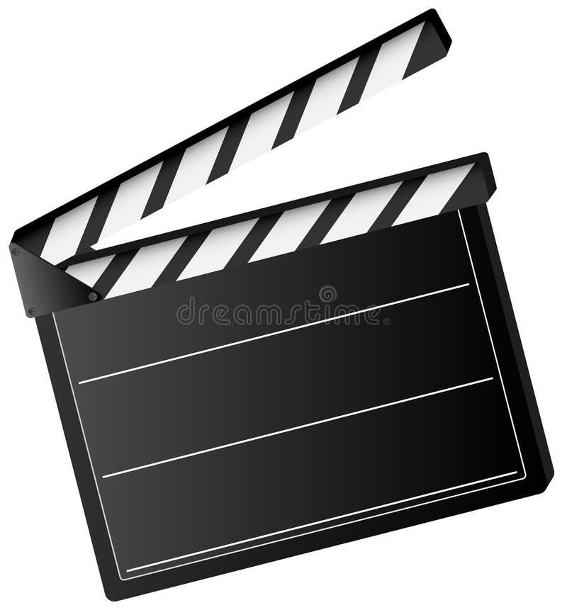 Panneau de clapet de film illustration stock