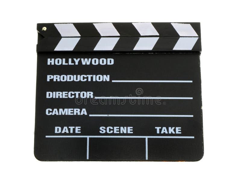 Panneau de clapet de film images stock