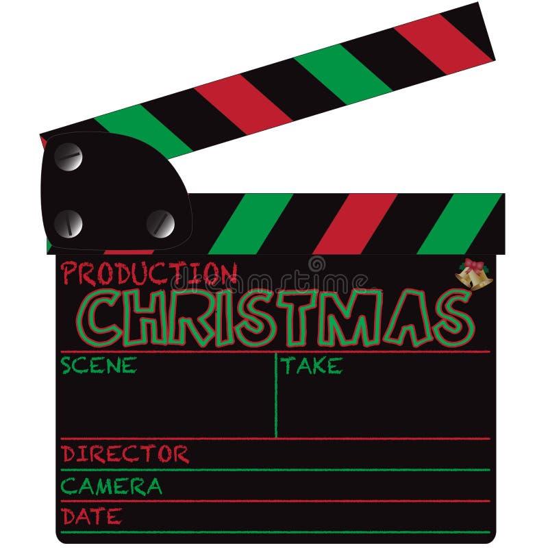 Panneau de clapet de Noël illustration stock