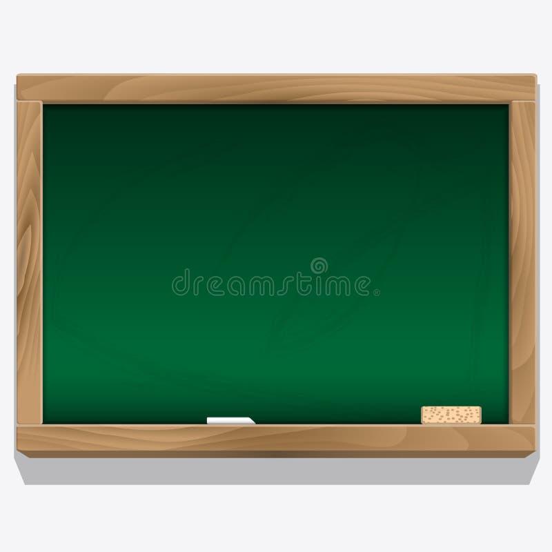 Panneau de classe avec le vecteur de craie illustration libre de droits