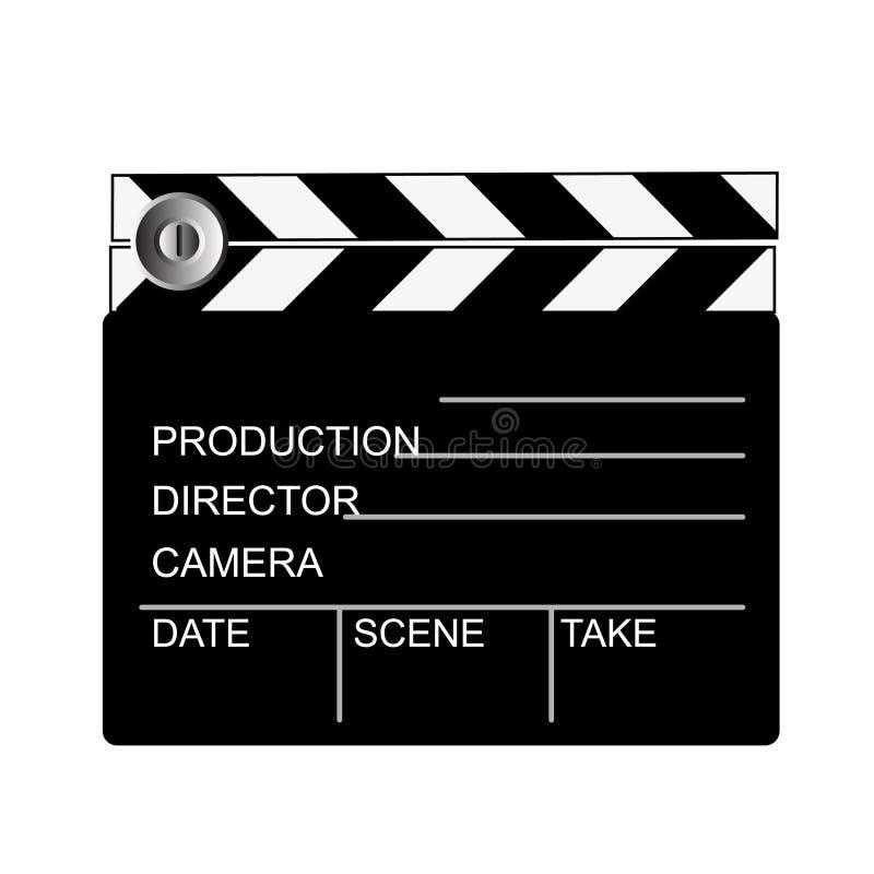 Panneau de clip de film image libre de droits