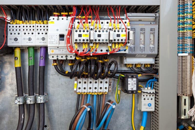 Panneau de commande électrique images stock
