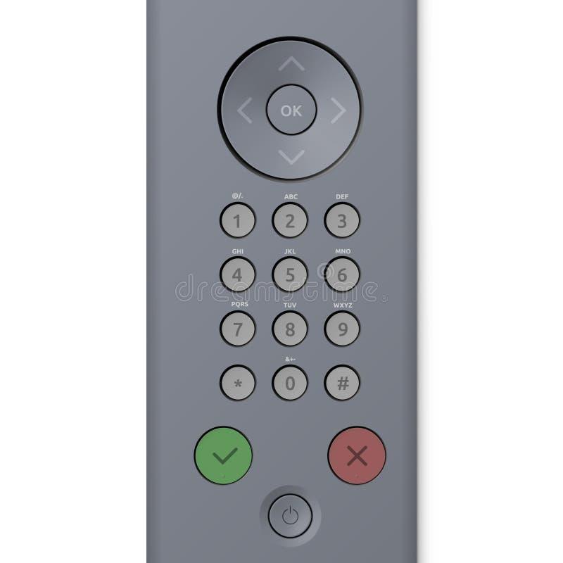 Panneau de commande de clavier numérique avec des boutons illustration stock