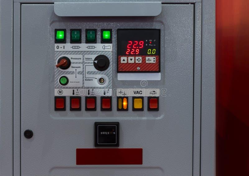 Panneau de commande des unités de contrôle de température photo libre de droits