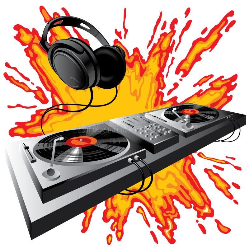 Panneau de commande du DJ illustration libre de droits