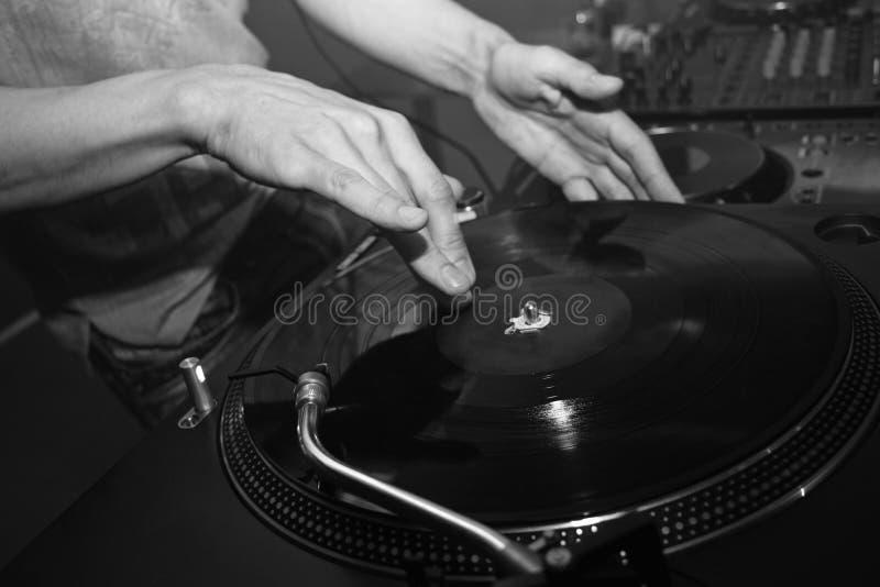 Panneau de commande du DJ photo libre de droits