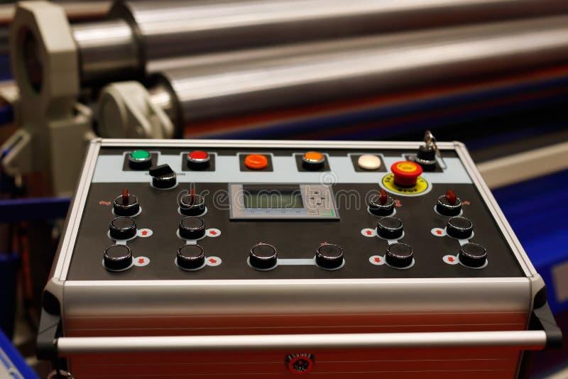 Panneau de commande de machine de développement de bobine en acier photos libres de droits