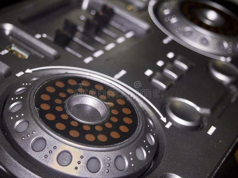 Panneau de commande de musique vieux contrôleur de cru photographie stock libre de droits