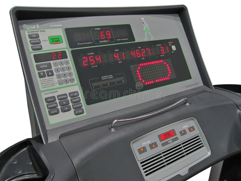 Panneau de commande numérique, gyms, essai de tension artérielle images libres de droits