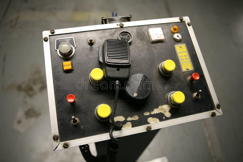 Panneau de commande (orientation sur la radio de CB) photos libres de droits
