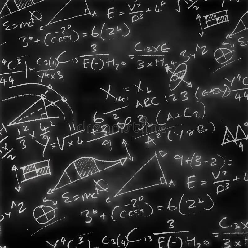 Panneau de craie de maths illustration de vecteur