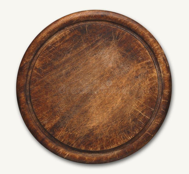 Panneau de découpage en bois d'isolement sur le fond blanc photo stock